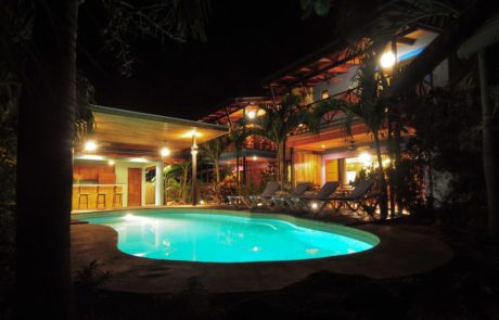 Beach House Nosara, Poolside At Night